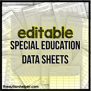 Special Education Data Sheets {EDITABLE}