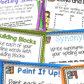 20 Spelling Activity Task Cards VOLUME 2 - Print and Go Student Worksheets - NZ