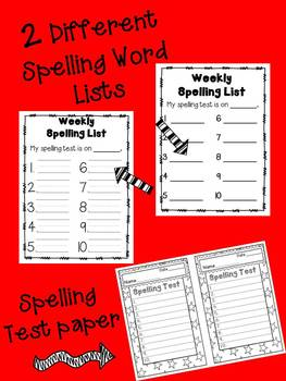 20 Spelling Centers & Homework - Blackline Masters! Reading No Prep!!