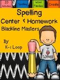 20 Spelling Centers & Homework - Blackline Masters! Readin