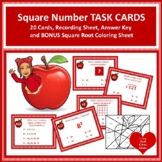 Dollar!  20 Square Numbers/Roots Task Cards with BONUS Squ