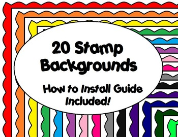 20 Stamp Borders for Commerical/Personal Use