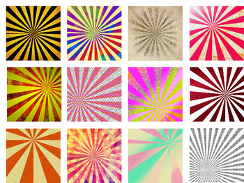 20 Starburst Rays - Backgrounds, Textures, Commercial OK