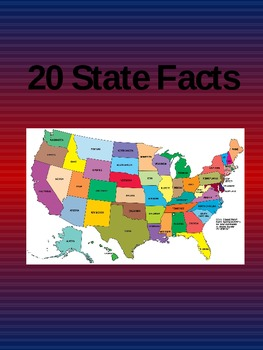 20 State Facts of the United States