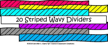 Striped Wavy Dividers