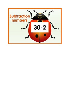 20 Subtraction Beetles (Subtracting numbers from 30)