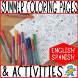 30+ Summer Coloring Pages, Mazes, Tracing and Cutting Acti