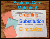 20) Systems of Equations Matching Review: Graphing Substitution Elimination
