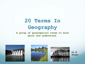 20 Terms In Geography