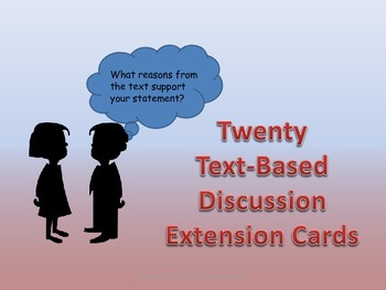 20 Text Based Discussion Extension Cards