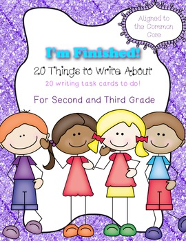 20 Things to Write about Task Cards