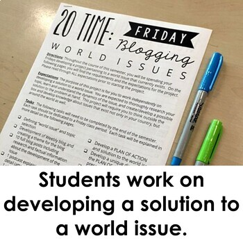 20 Time: Research Project Developing a Solution to a World Issue