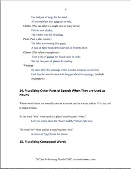 20 Tips for Forming Plurals