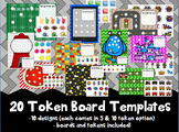 20 Token Board templates (10 designs - 5/10 token options)