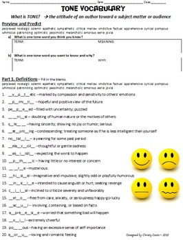 20 Tone Terms - Tone Vocabulary Practice (8 Activities)