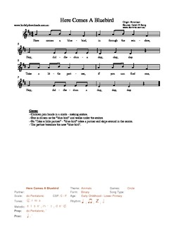 20 Traditional American Songs for Teaching with the Kodaly Method