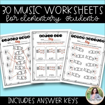 ‪20 Treble & Bass Clef Quick Quizzes for Elementary Music Students