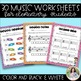 Music Worksheets: Note Naming Practice on Treble Clef, Bass Clef, Alto Clef