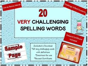 20 Very Challenging Spelling Words for Gifted Students and