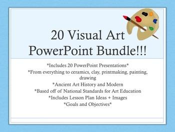 20 Visual Art Elementary & Secondary PowerPoint Presentati