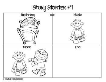 Story Starters VISUAL WRITING PROMPTS Beginning - Middle - End