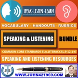 SPEAKING AND LISTENING HANDOUTS BUNDLE