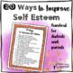 20 Ways To Increase Self Esteem Handout