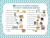 20 Ways to Help Others Without Spending Money POSTER