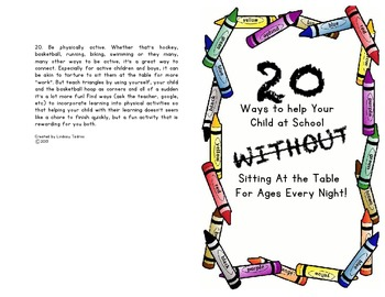 20 Ways to Help Your Child Without Sitting at the Table Fo