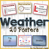 20 Weather Posters - Weather Tools, Fronts, Clouds