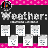 20 Weather Scrambled Sentences and Recording Pages
