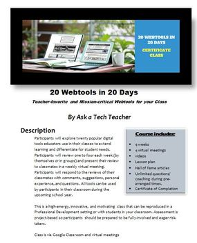 20 Webtools in 20 Days