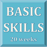20 Week Basic Skills Practice and Quizzes Pack