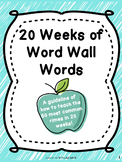 20 Week Unit of Word Wall Words