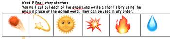 20 Weeks of Fun Emoji Story Prompts