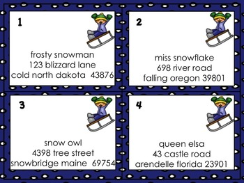 20 Winter Literacy Centers/Task Cards/Scoot