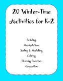 20 Winter-Time Activities for K-2 Music