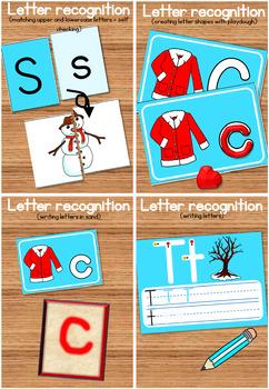 20 Winter literacy center activities