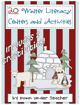 20 Winter/January themed literacy centers, craftivities, activities