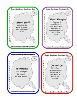 20 Word Work Task Cards - Set 3