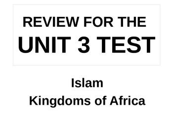 UNIT 3 LESSON 7. World History Unit 3 Test Review POWERPOINT