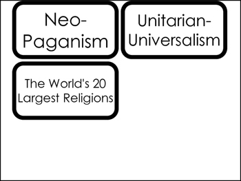 20 World Religions Printable Flashcards.  World Religion Bible Studies.