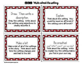 20 Write About Reading Task Cards