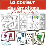 20 activités - La couleur des émotions - French Colors monsters