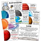 20 affiches sur le système solaire: planètes et espace