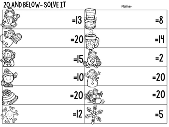 20 and Below {Mental Math Task Cards: Addition and Subtraction Fluency to 20}