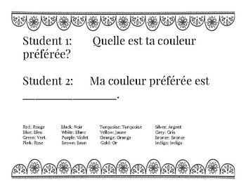 20 common French Sentences for French as a Second Language Learners (FSL)