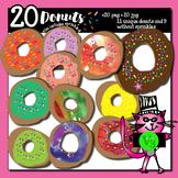 20 donuts - clip art for teachers