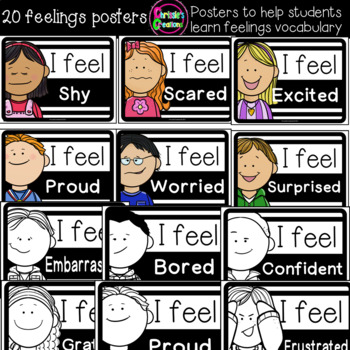20 feelings and emotions classroom posters