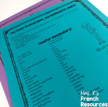 French writing prompts for beginners